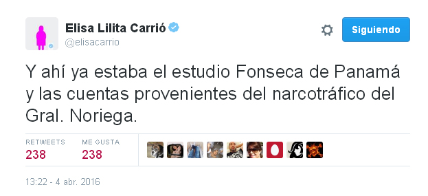 Panama Papers Elisa Carrió